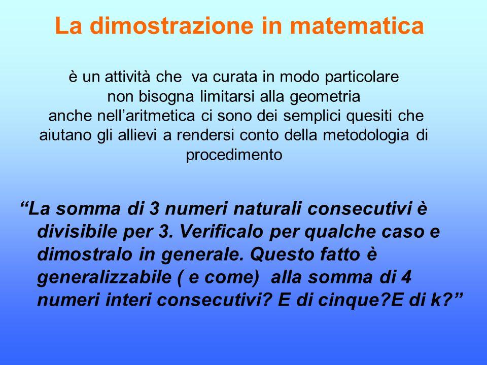 La dimostrazione in matematica