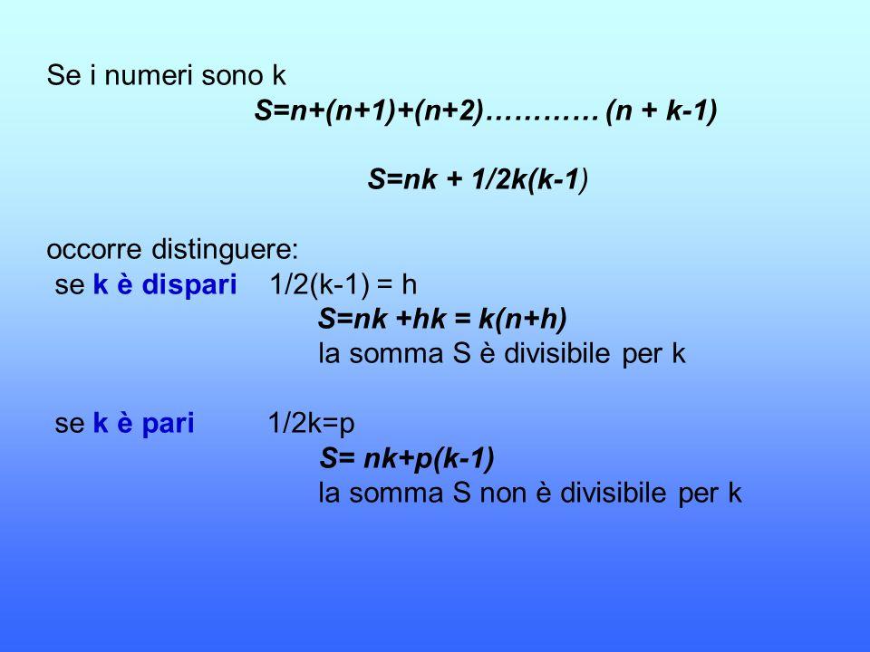 S=n+(n+1)+(n+2)………… (n + k-1)