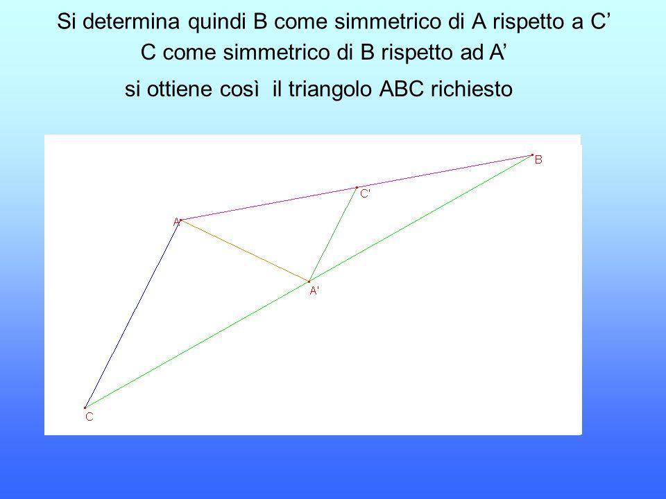 Si determina quindi B come simmetrico di A rispetto a C'