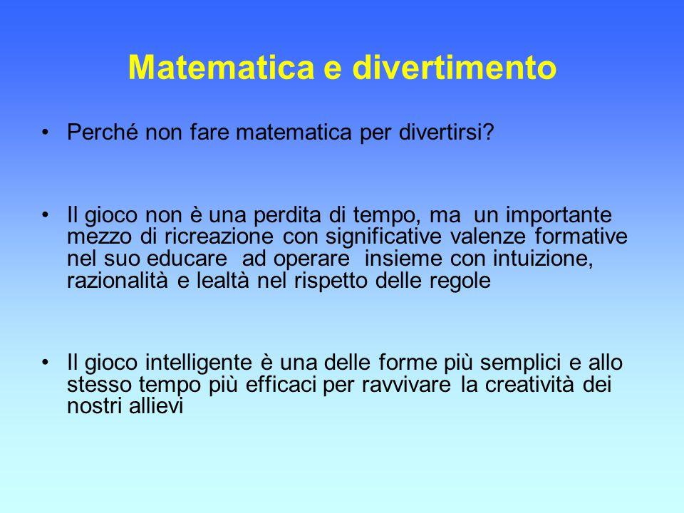 Matematica e divertimento