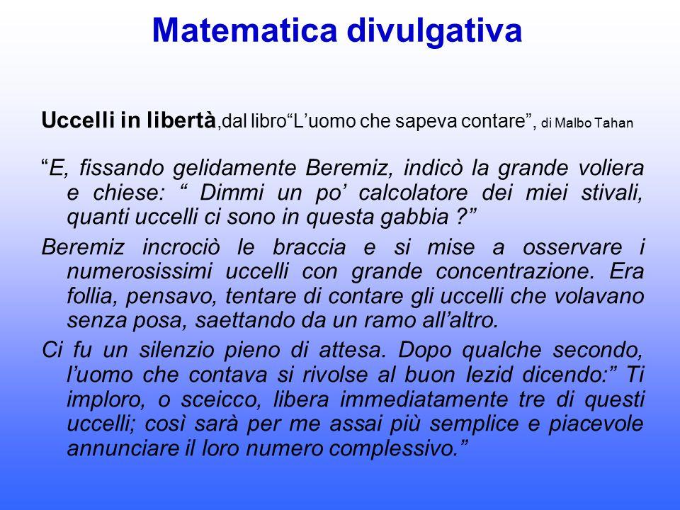 Matematica divulgativa