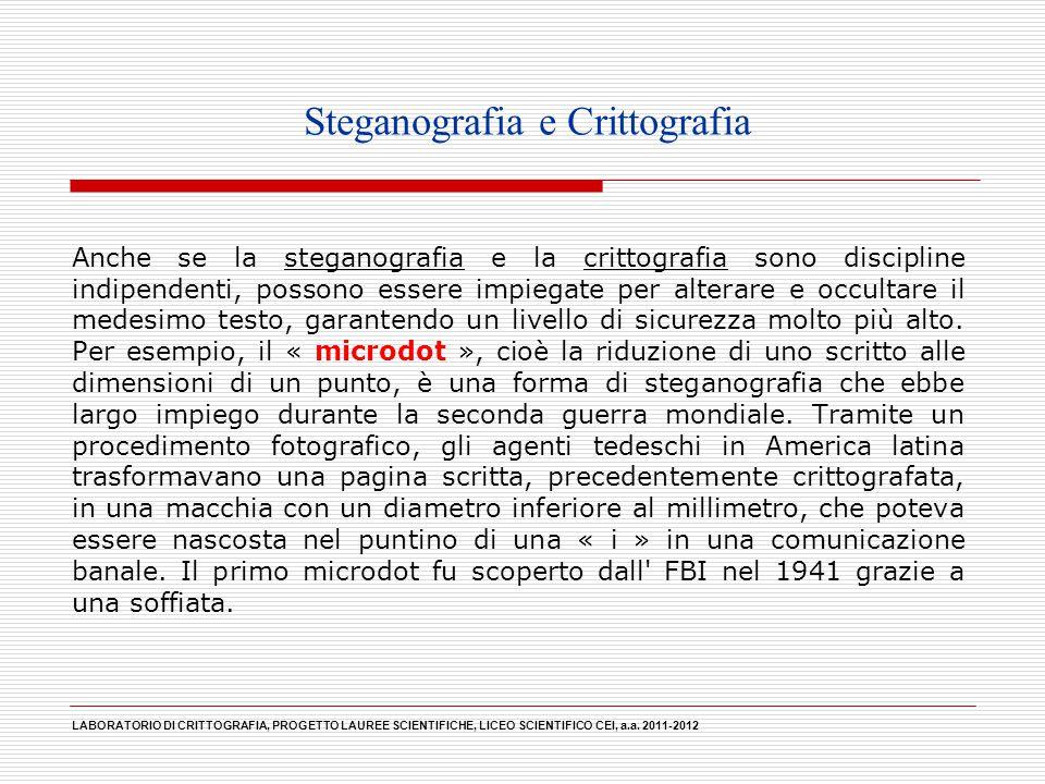 Steganografia e Crittografia