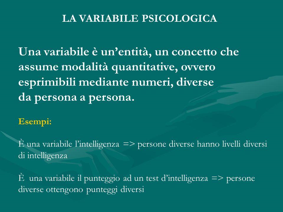 Una variabile è un'entità, un concetto che