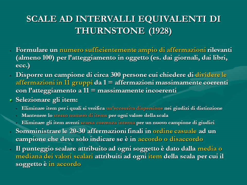 SCALE AD INTERVALLI EQUIVALENTI DI
