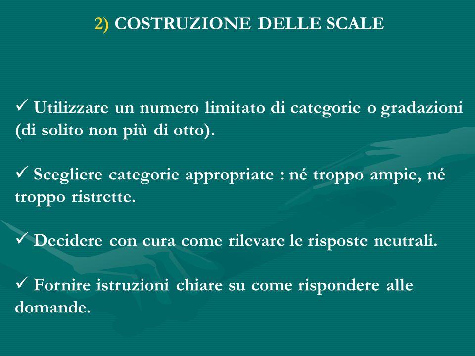 2) COSTRUZIONE DELLE SCALE