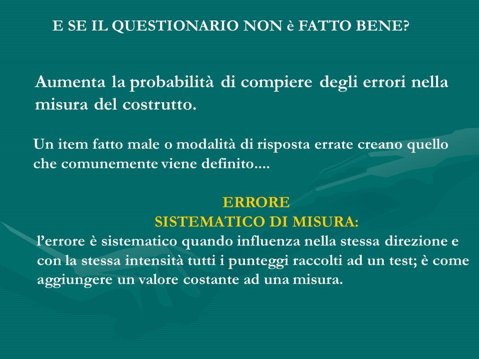 SISTEMATICO DI MISURA: