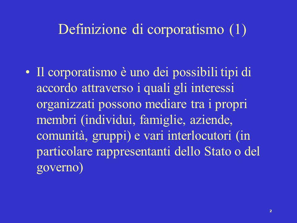 Definizione di corporatismo (1)