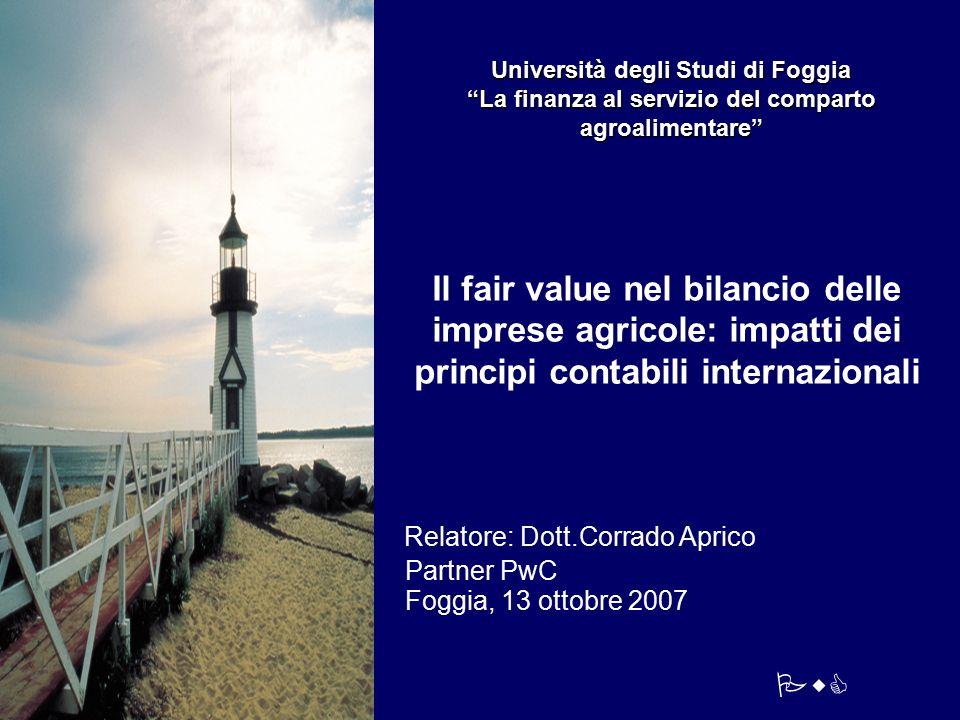 Relatore: Dott.Corrado Aprico