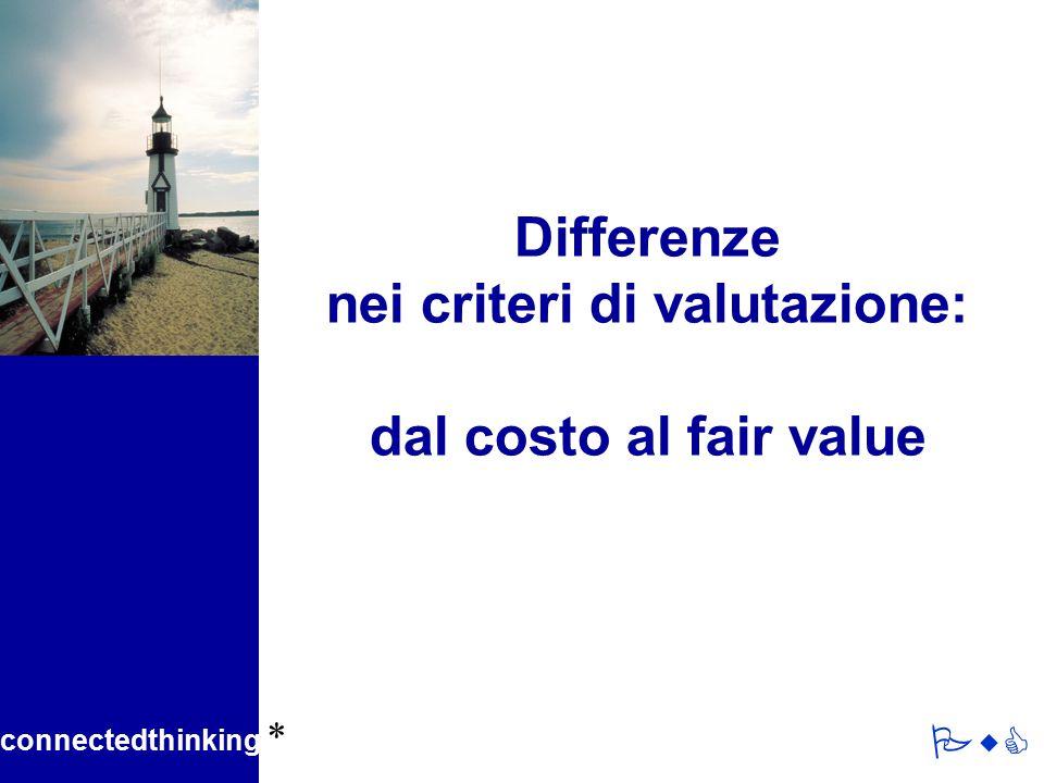 Differenze nei criteri di valutazione: dal costo al fair value