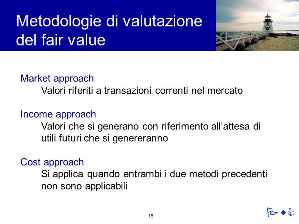 Metodologie di valutazione del fair value
