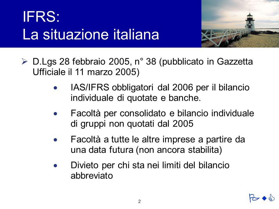 IFRS: La situazione italiana
