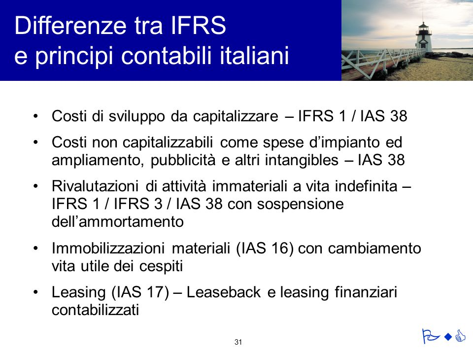 Differenze tra IFRS e principi contabili italiani