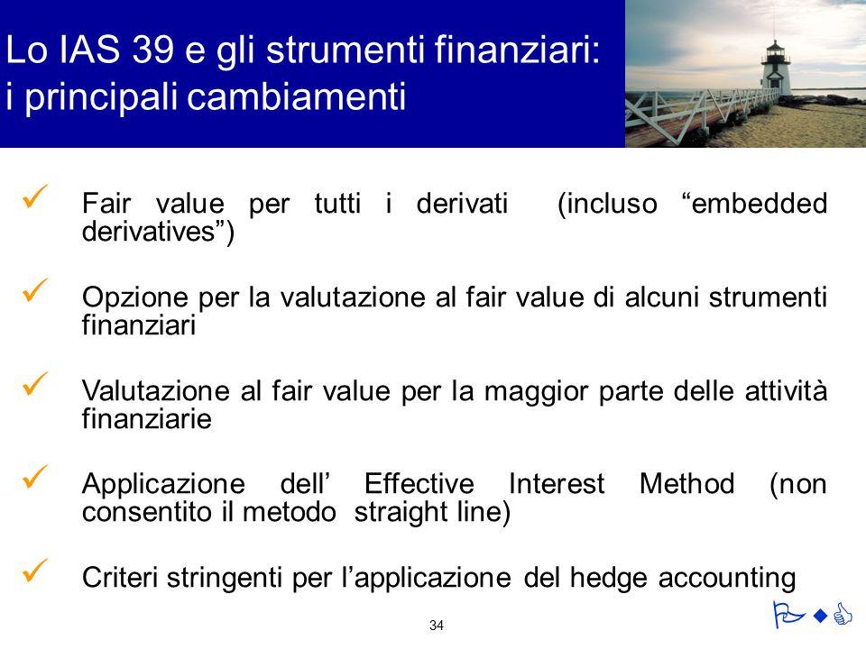Lo IAS 39 e gli strumenti finanziari: i principali cambiamenti