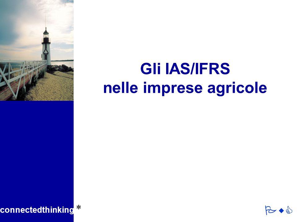 Gli IAS/IFRS nelle imprese agricole