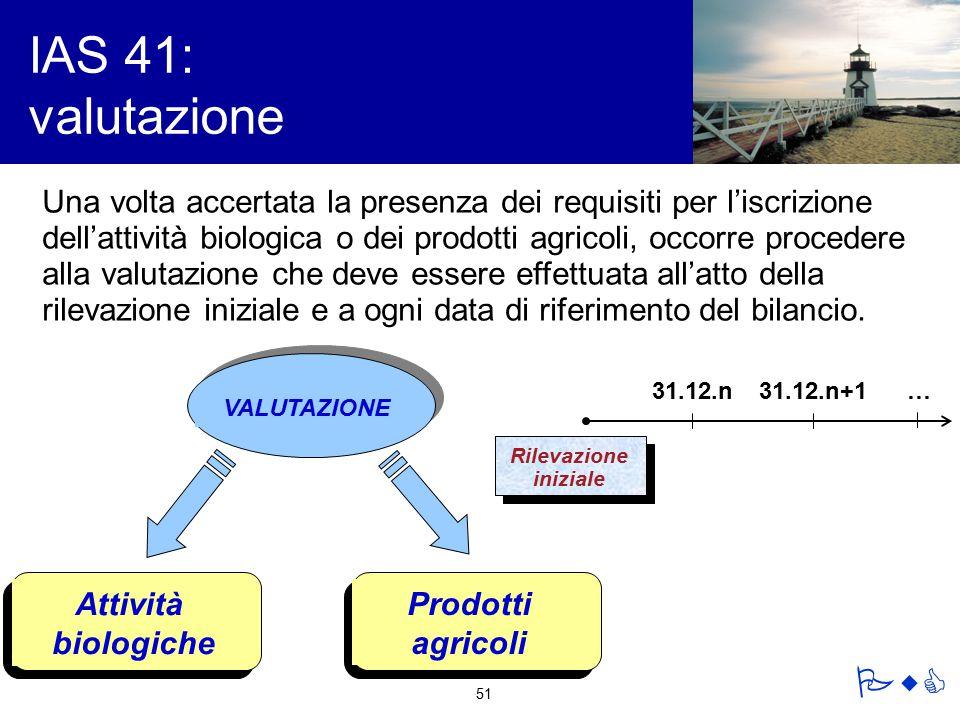 IAS 41: valutazione