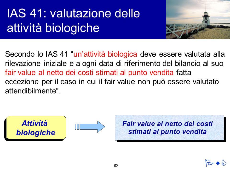 IAS 41: valutazione delle attività biologiche