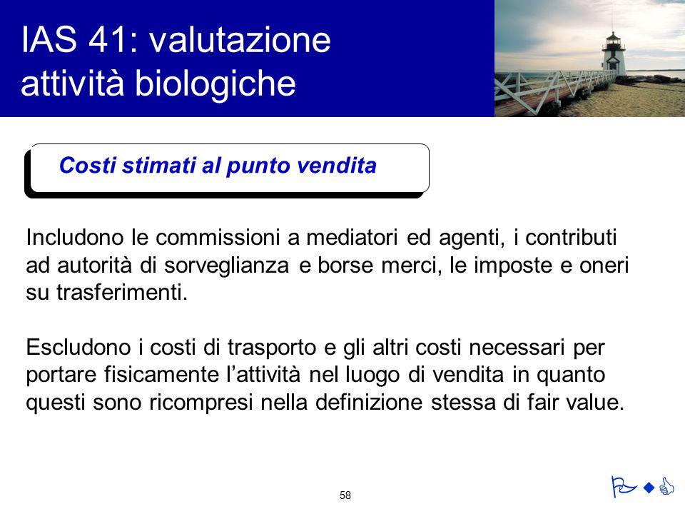 IAS 41: valutazione attività biologiche