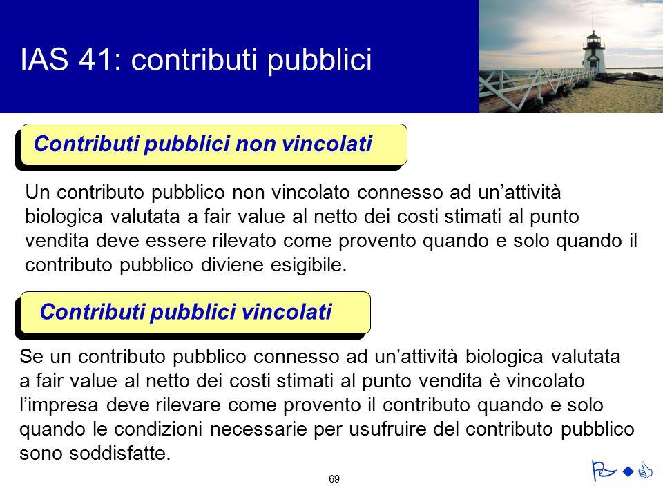 IAS 41: contributi pubblici