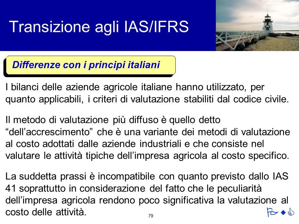 Transizione agli IAS/IFRS
