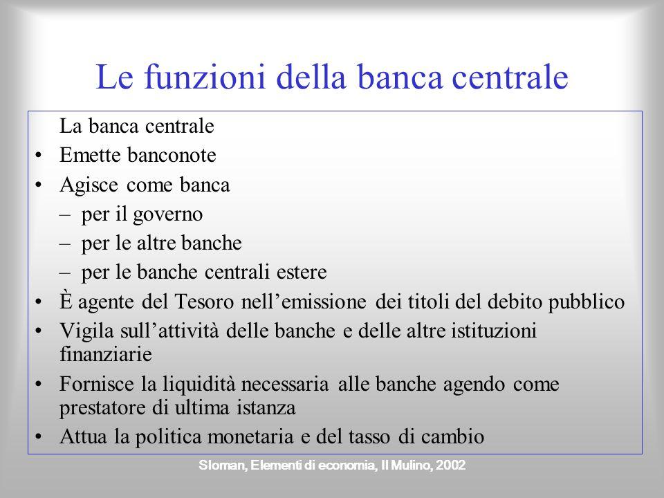 Le funzioni della banca centrale