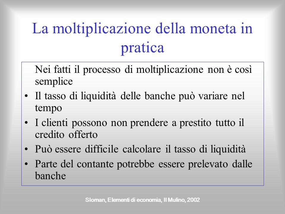 La moltiplicazione della moneta in pratica