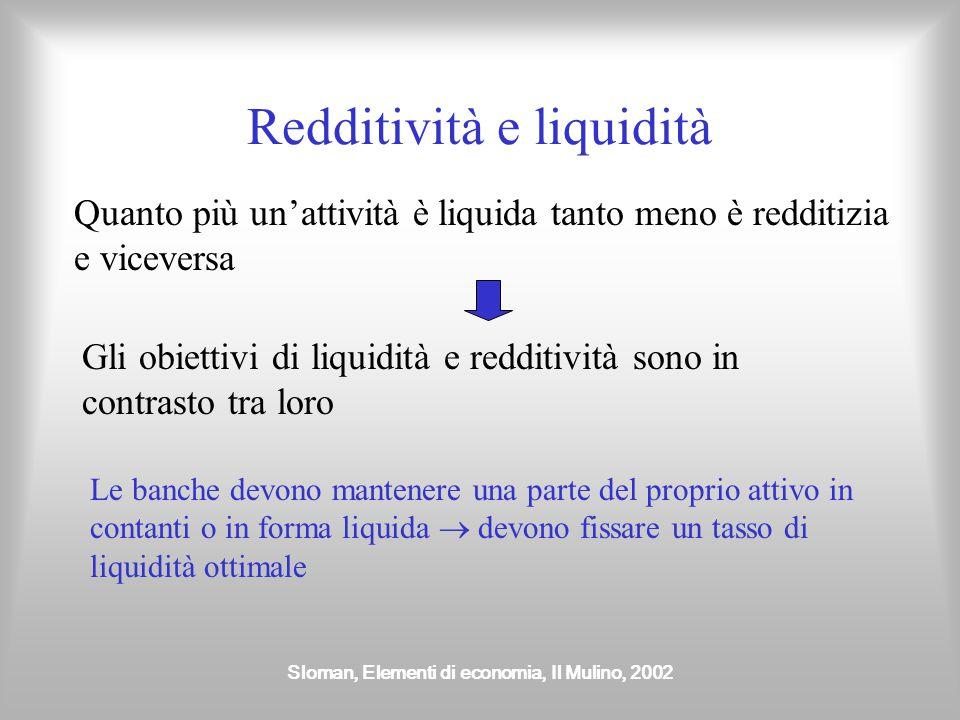 Redditività e liquidità
