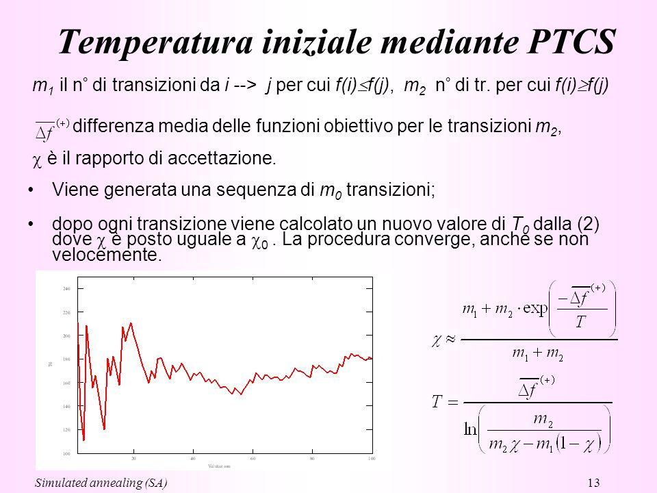 Temperatura iniziale mediante PTCS