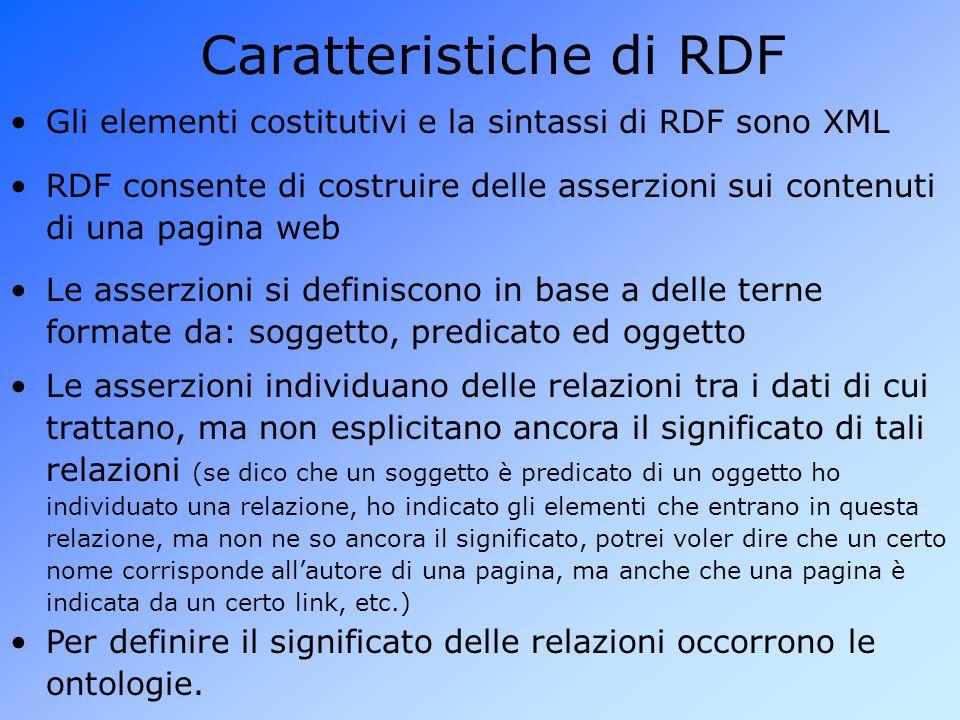 Caratteristiche di RDF