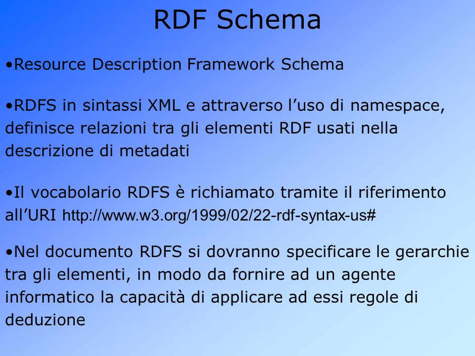 RDF Schema Resource Description Framework Schema