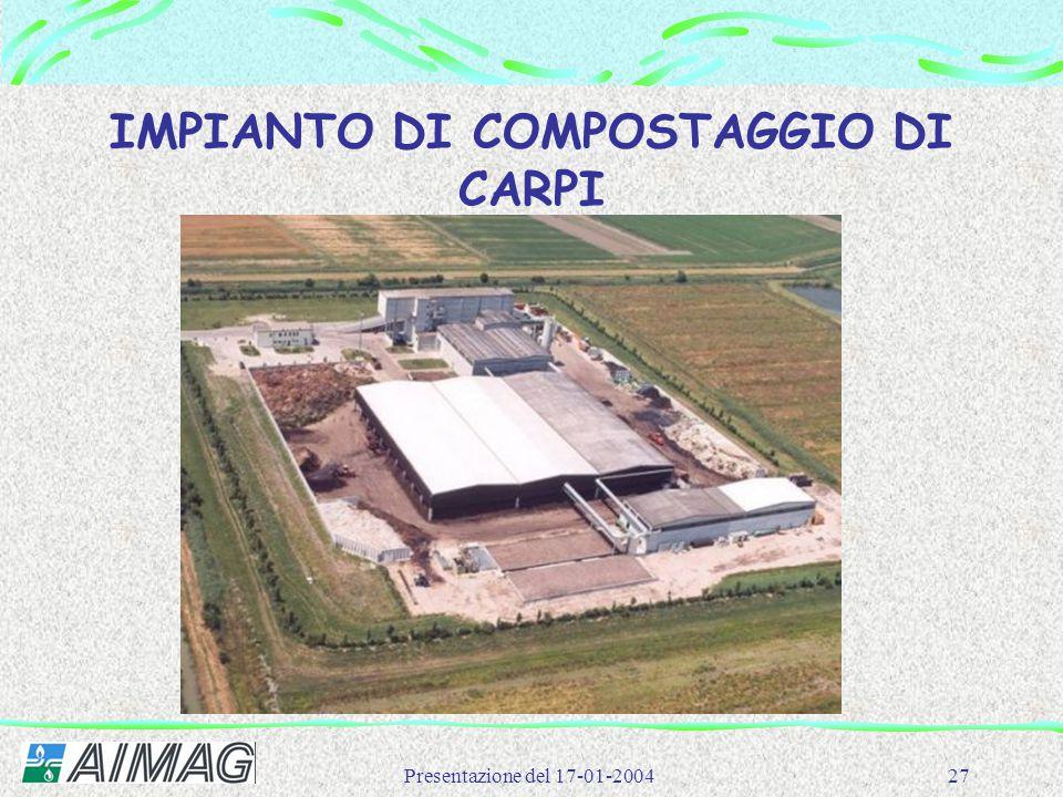 IMPIANTO DI COMPOSTAGGIO DI CARPI