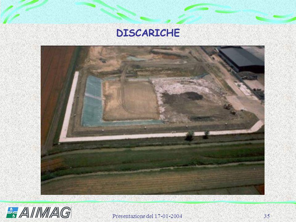 DISCARICHE Presentazione del 17-01-2004