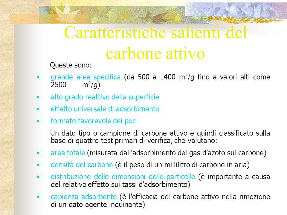 Caratteristiche salienti del carbone attivo