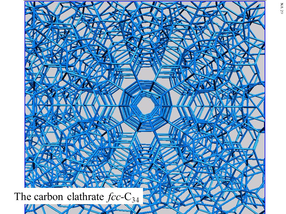 The carbon clathrate fcc-C34