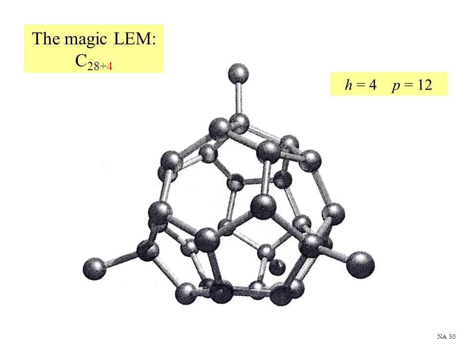 The magic LEM: C28+4 h = 4 p = 12 NA 30