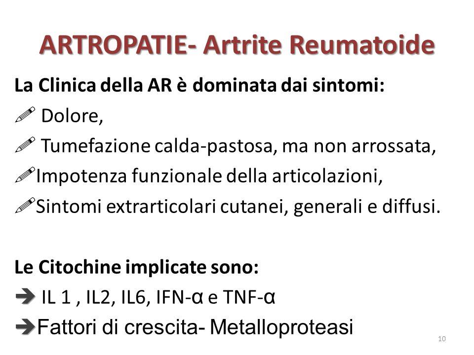 ARTROPATIE- Artrite Reumatoide