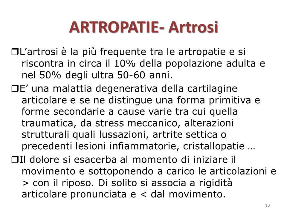 ARTROPATIE- Artrosi