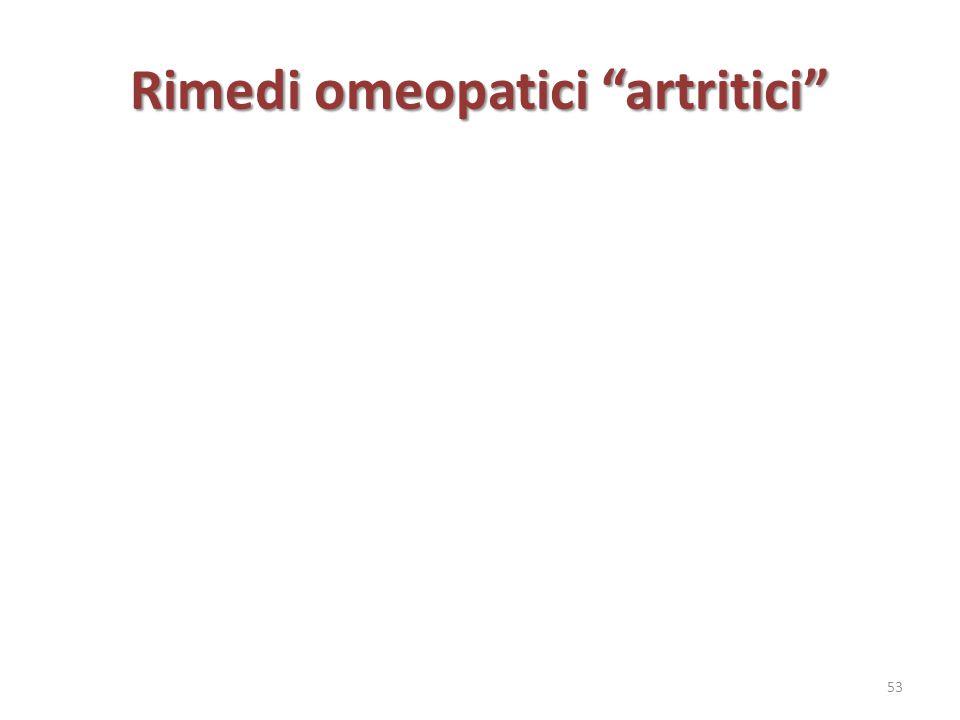 Rimedi omeopatici artritici