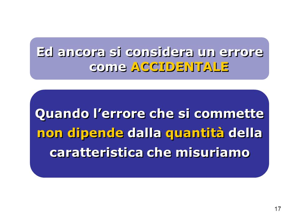Ed ancora si considera un errore come ACCIDENTALE