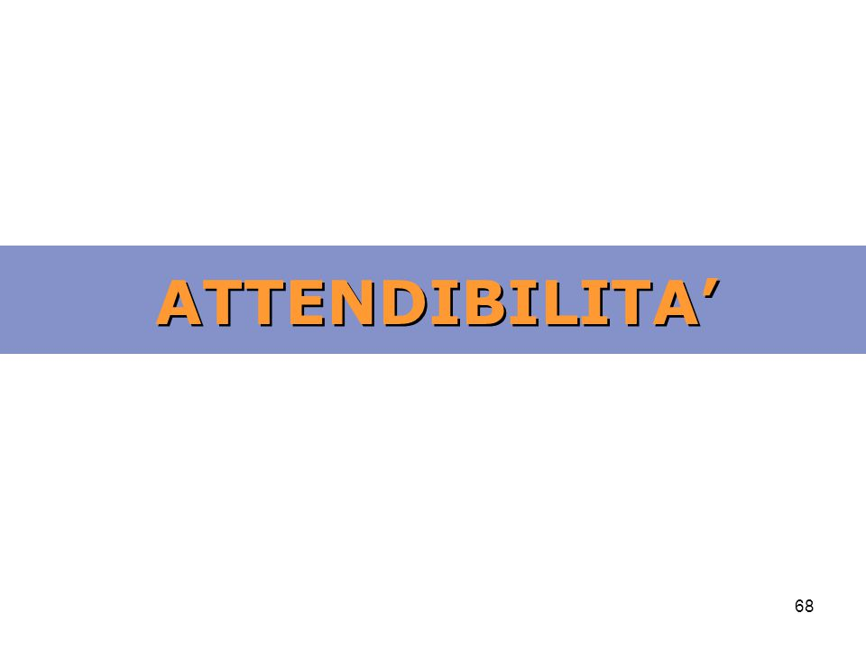 ATTENDIBILITA'