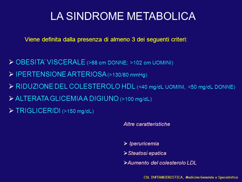 LA SINDROME METABOLICA