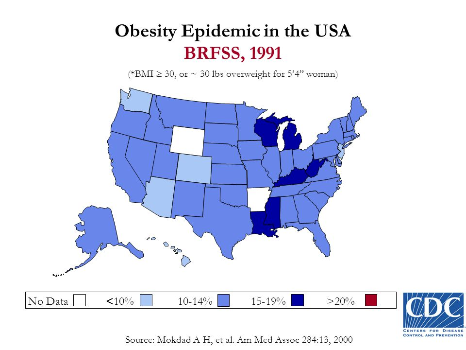 Obesity Epidemic in the USA BRFSS, 1991