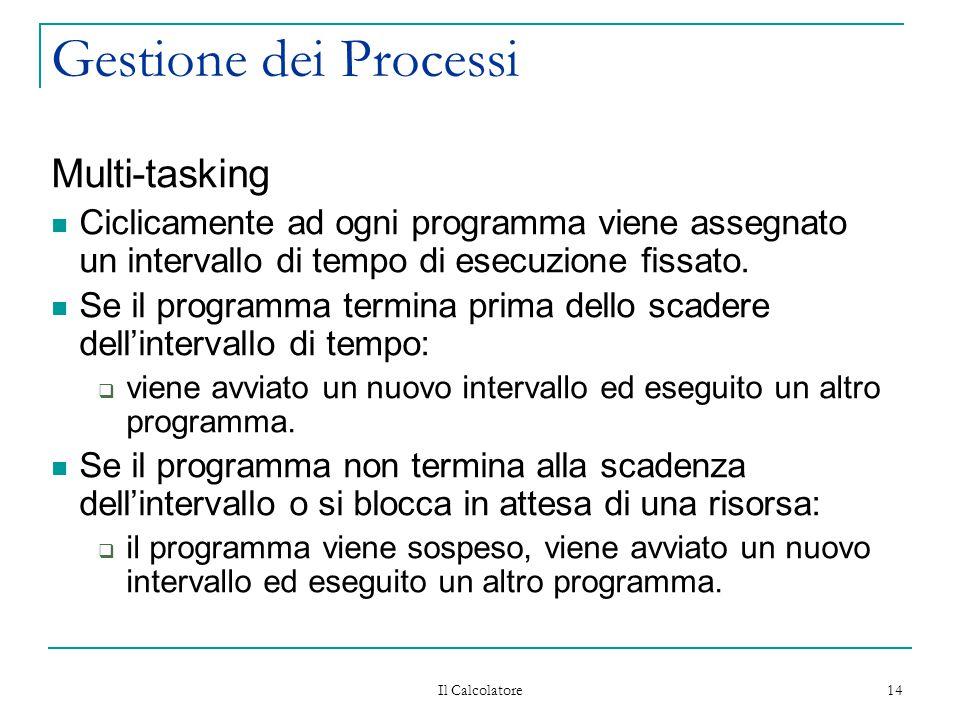 Gestione dei Processi Multi-tasking