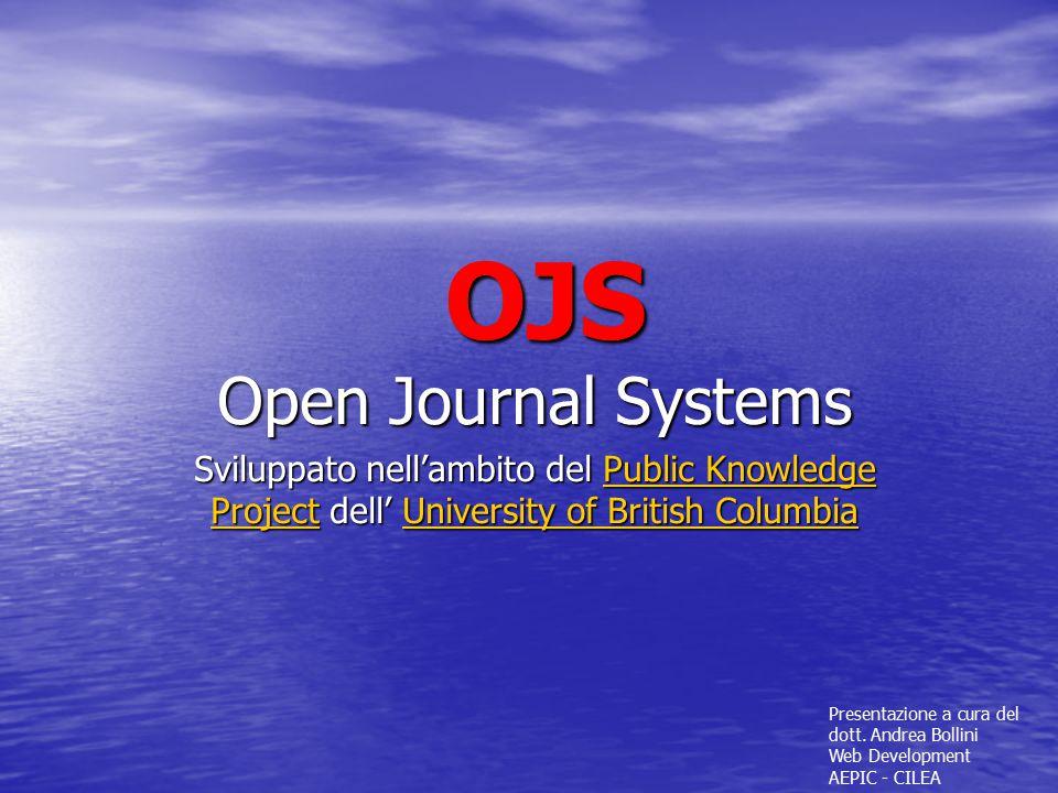 OJS Open Journal Systems