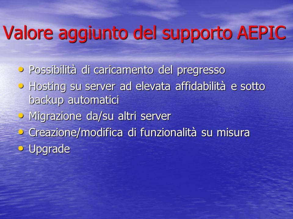 Valore aggiunto del supporto AEPIC
