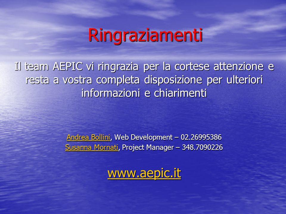 Ringraziamenti www.aepic.it