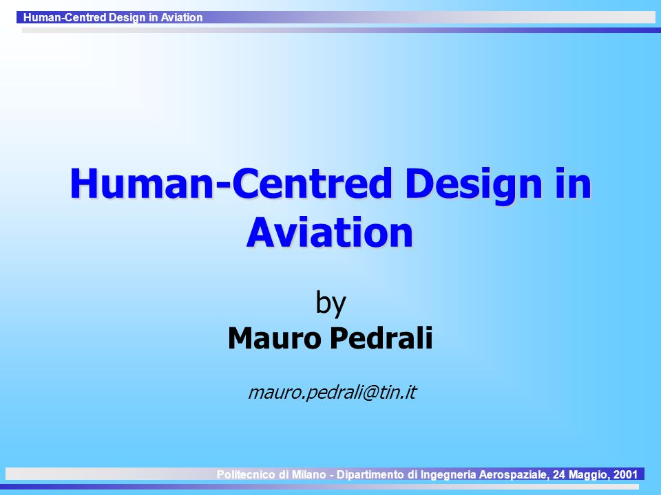 Human-Centred Design in Aviation