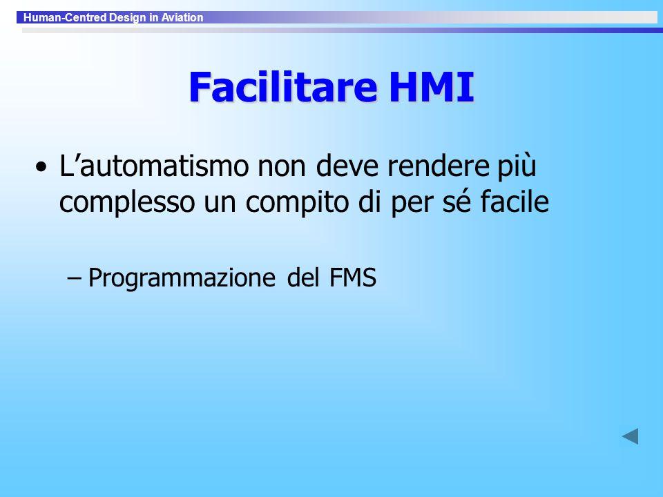 Facilitare HMI L'automatismo non deve rendere più complesso un compito di per sé facile.