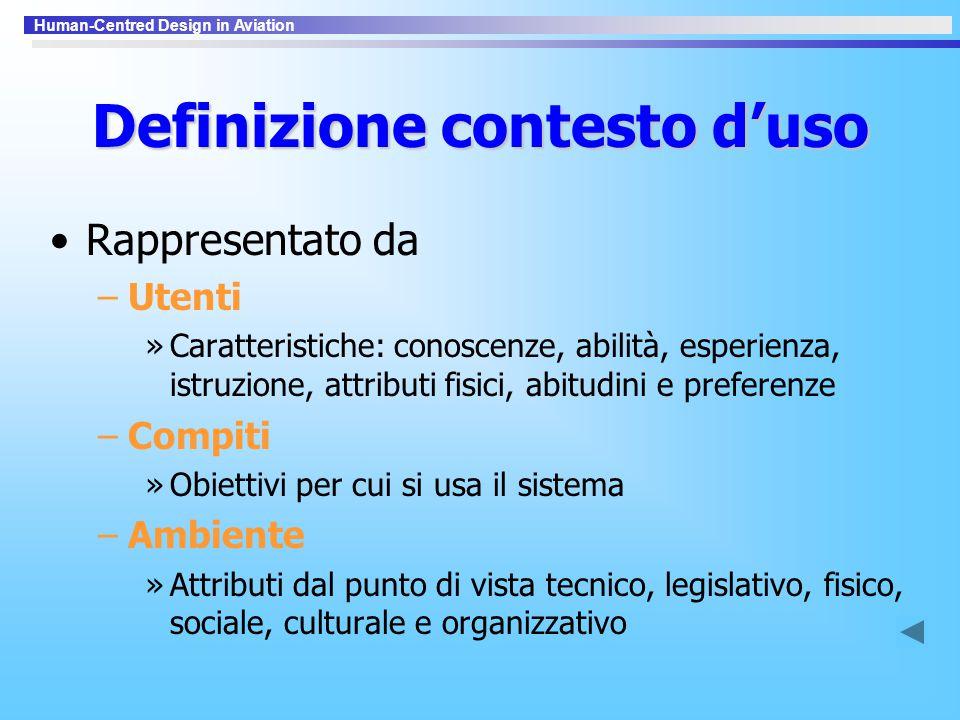 Definizione contesto d'uso