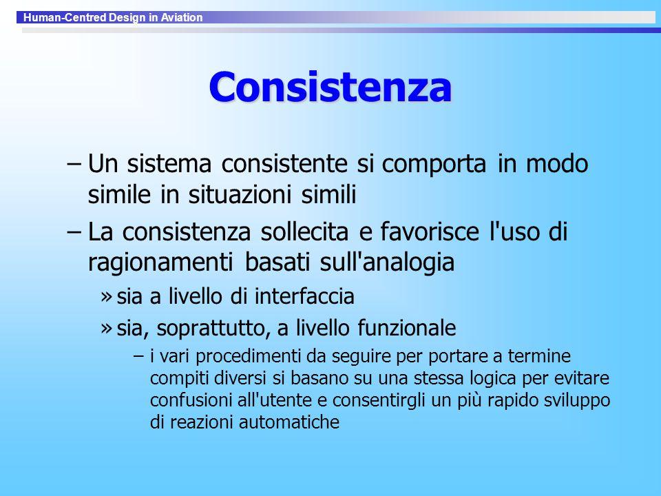 Consistenza Un sistema consistente si comporta in modo simile in situazioni simili.