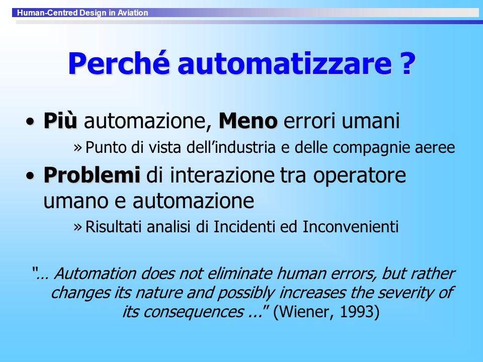 Perché automatizzare Più automazione, Meno errori umani